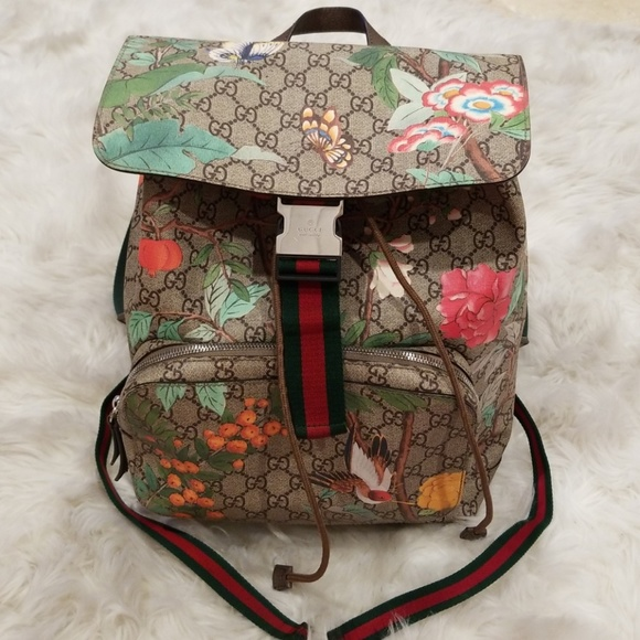 Gucci Handbags - 💯Authentic Gucci GG Tian Supreme Floral Backpack 40073bb8320cd
